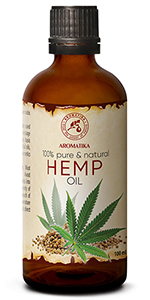 Hemp Oil 3.4oz - Cannabis Sativa Seed Oil - 100% Pure & Natural Hemp Seed Oil - Benefits for Skin