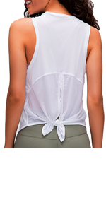Yoga Tanks Top Open Back Tie up
