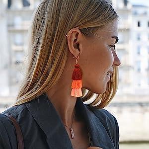 tassels ear pendant