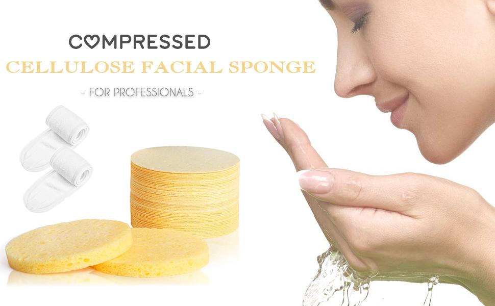 Cellulose  Compressed Facial Sponge