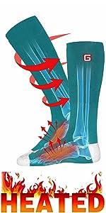 heated socks winter warm rechargeable battery heat sox kit sport outdoor foot warmer