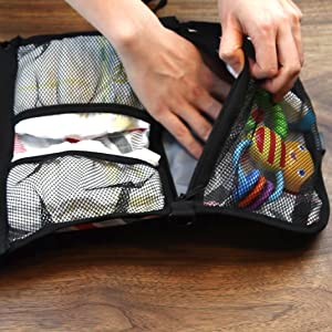 A lot of Storage Options with this portable changing mat. Best use as baby gifts for newborn boys