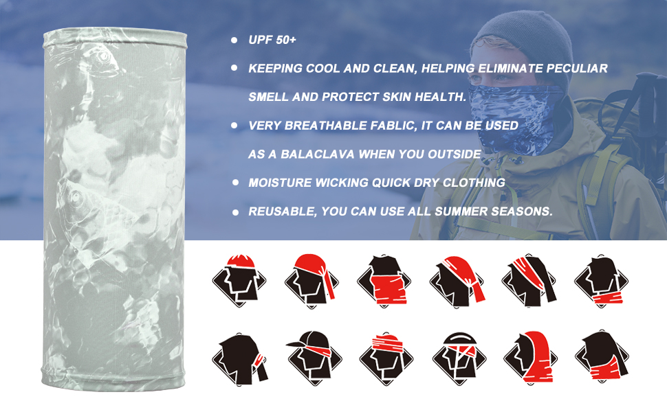 cooling neck gaiter headwear