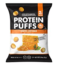 Baked Cheddar Protein Puffs