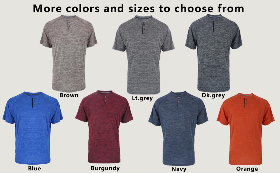 short sleeve henley shirt for men