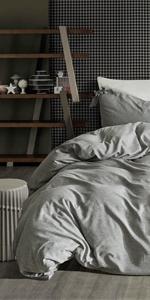 grey heather bowtie duvet cover
