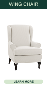 CHUN YI Rhombus Wingback Chair Cover