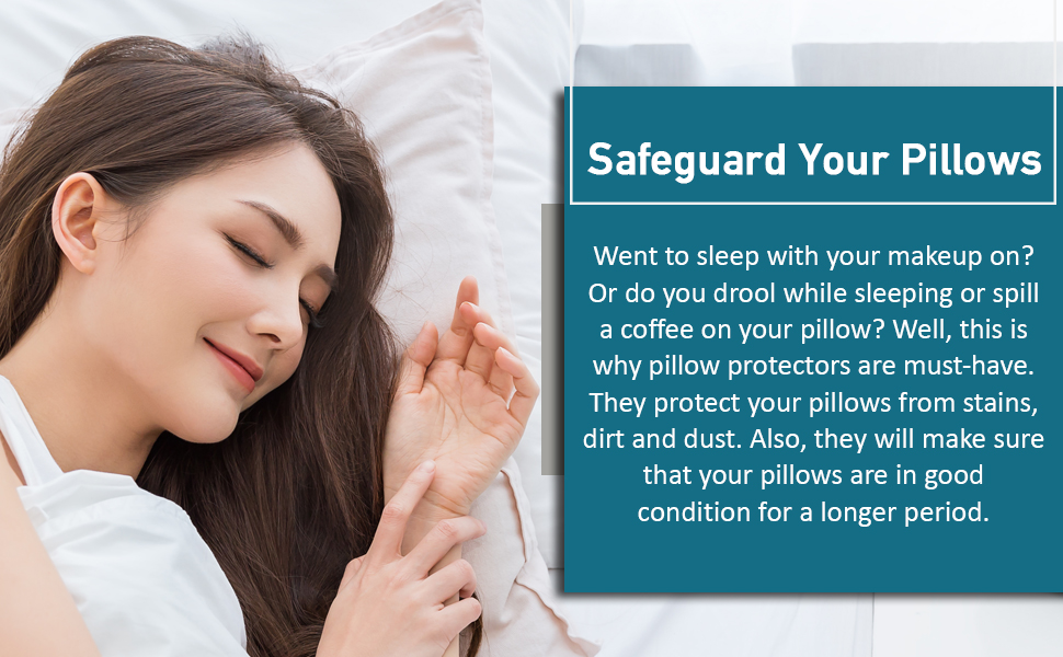 Hypoallergenic pillow cover for standard pillows