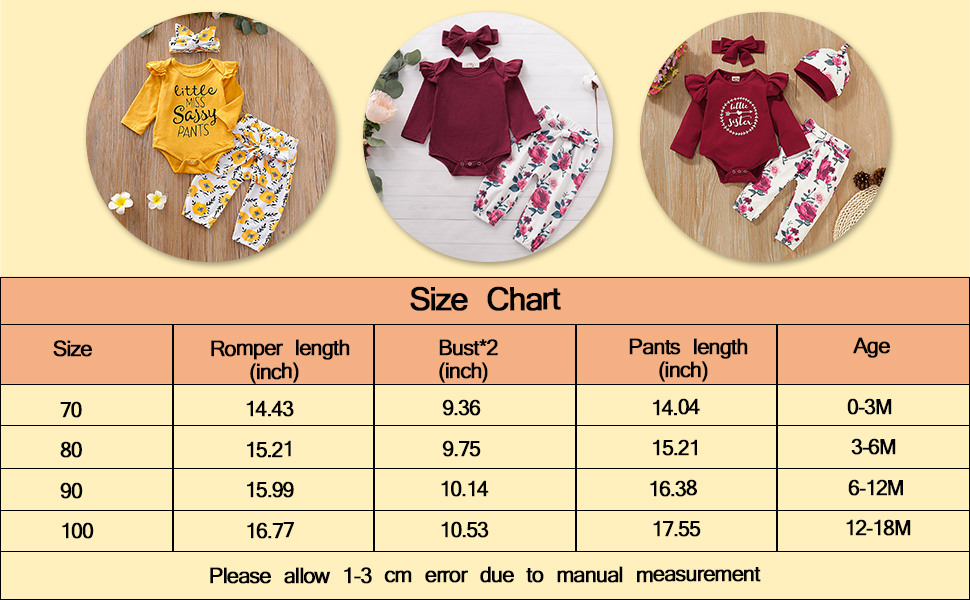 Cute Baby Girl Clothes for 0-24 Months Girls