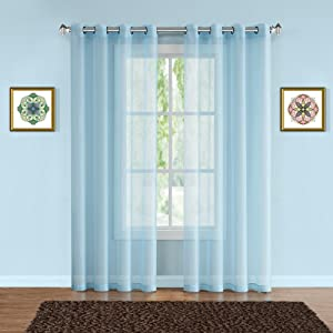 warm home designs curtains panels drapes patio wall room divider scarf valance sheer navy blue
