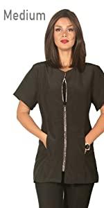 groomer jacket for women jacket with zipper stylist wear grooming apparel dog groomer jacket