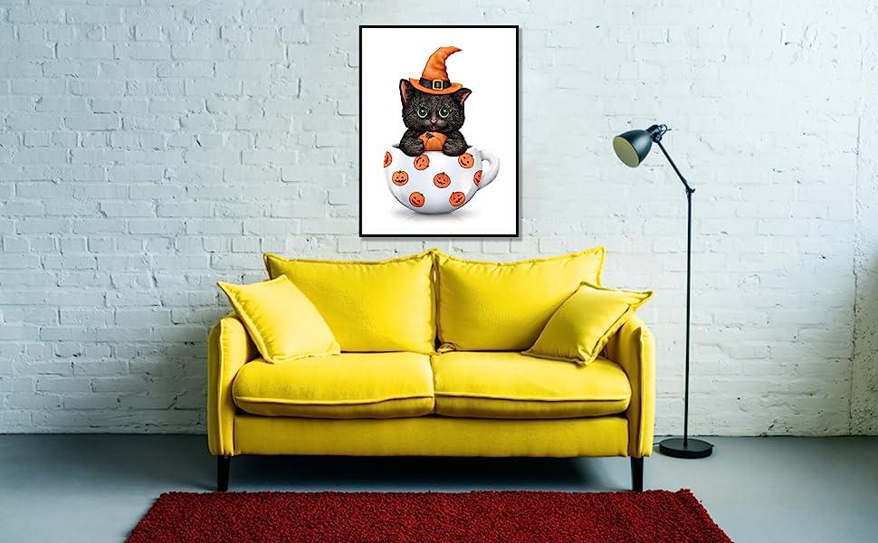 Pumpkins 12x16inch Embroidery Rhinestone Cross Stitch Arts Craft Supply for Home Wall Decor EOBROMD 5D Diamond Painting Kit