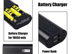 18650 Battery Charger Power Bank Case