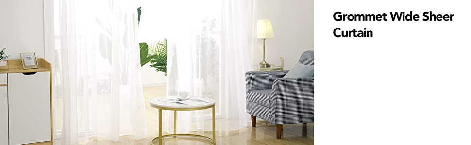 wide white sheer curtains