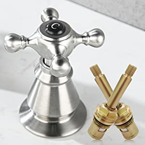 Anpean Two Handle 8 Inch Widespread Bathroom Faucet 3 Holes, Brushed Nickel-4