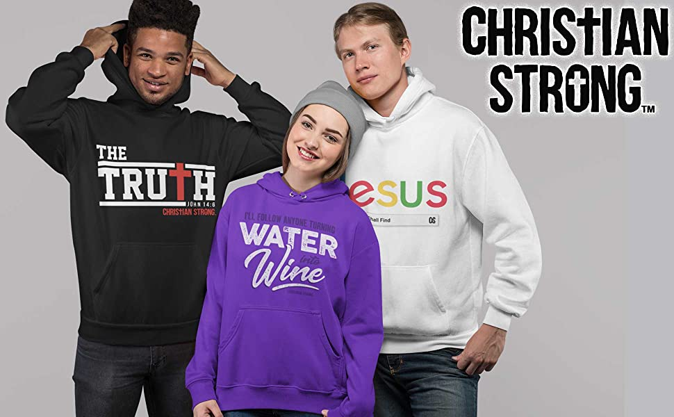Christian pull-over Hooded sweatshirt