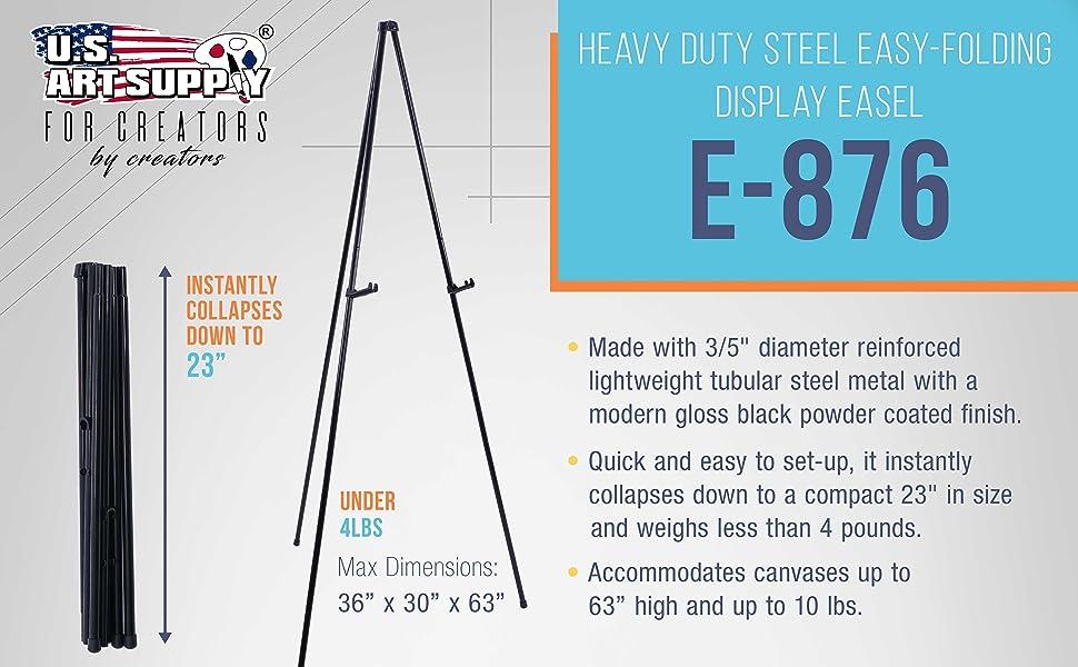 Heavy Duty Steel Easy-Folding Display Easel