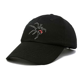 H-Black-Cat Dad Cap 100% Cotton