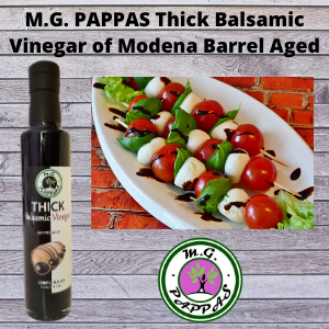 M.G. PAPPAS Thick Balsamic Vinegar of Modena Traditional Style Barrel Aged Sweet Gourmet 10 Year Old