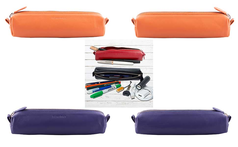 Beautiful bright new colored Zip Pouches for all your favorite pens, pencils, art brushes etc.