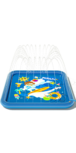 water sprinkler splash play mat