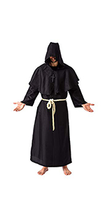 Spooktacular Creations Monk Costume Black