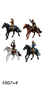 Western Cowboy Riding 4-pack