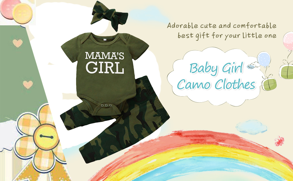 Baby camo outfit set