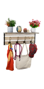 24 inch coat rack shelf with hook