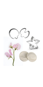 Sweet pea blossom veiners and cutters