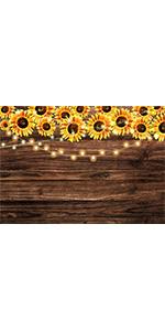 7x5ft Vinyl Sunflower Wooden Floor Photography Backdrops Baby Shower Birthday