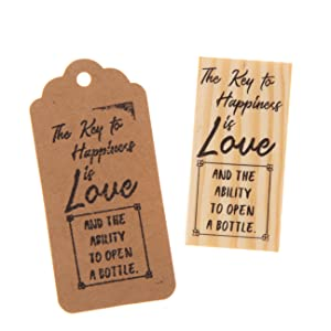 rubber stamp the key to happiness