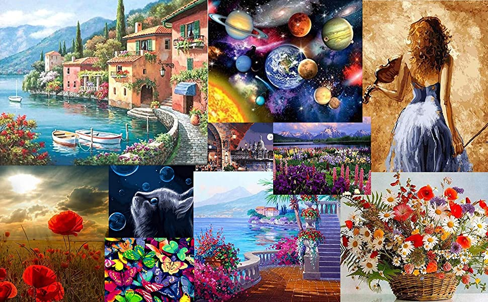 oil paint by numbers for adults