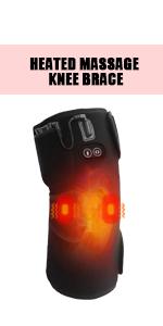 Heated massage knee brace