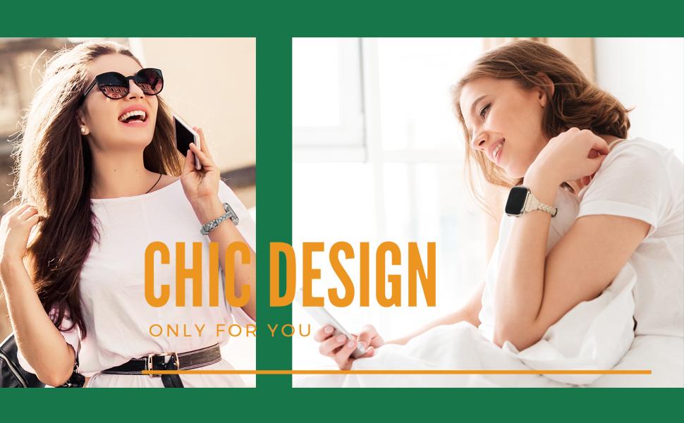 TOYOUTHS Slim Strap Compatible with Fitbit Versa/Versa 2/Versa Lite/Versa SE Bands for Women
