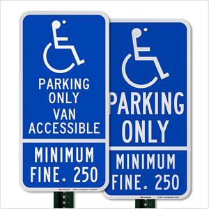 Handicap Van Accessible Parking Sign