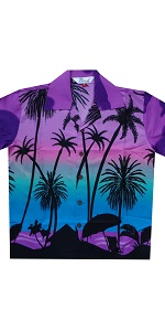 Palm Tree Print Hawaiian Shirt for Boys