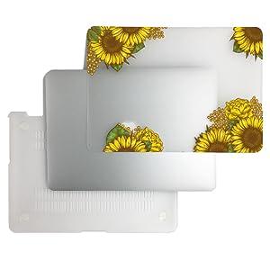 macbook case sunflower