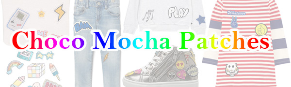 Choco Mocha Logo with  Iron On Patches