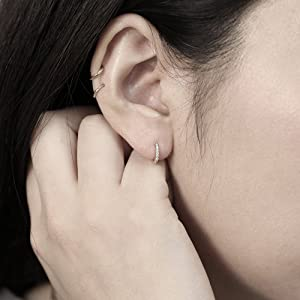 small gold hoop earrings,cartilage earring hoop,hypoallergenic hoop earrings,womens hoop earrings