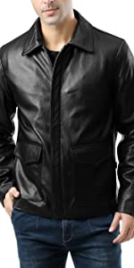 Landing Leathers Men's Voyager Indy-Style Goatskin Leather Jacket