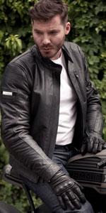 hunter; hunter jacket; classic leather jacket;