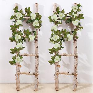 artificial rose vine garland