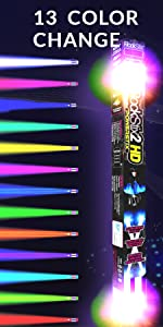 rock stix light up drumsticks rockstix rockstix2hd kids pro dj christmas gift drummer