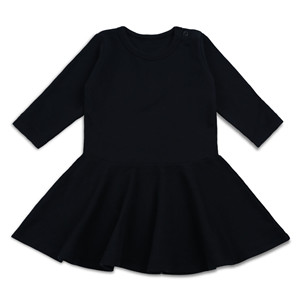 long sleeve infant black dress