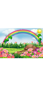 Spring Rainbow Meadow Backdrop