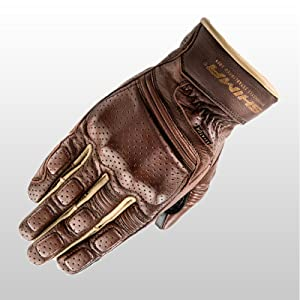 aviator light brown; vintage; classic motorcycle gloves;