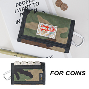 Portable kids wallet with outer YKK zipper pocket is for quick access coins small items in safety