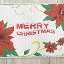 Floral printed design with blessing saying, fit for Christmas holiday