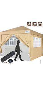 pop up canopy with sidewalls